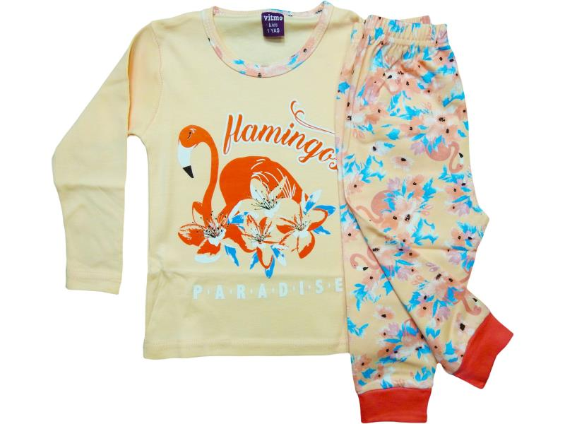 759 Wholesale baby sleepwear printed flamingo paradise for women 1-2-3 years