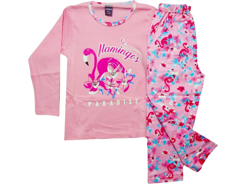 759 Wholesale children's seasonal pajamas with print, for girls 4-5-6 years