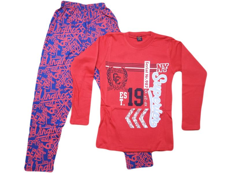 756 Wholesale cheap and quality SUPERİOR printed tracksuits for boy children 10-11-12 age