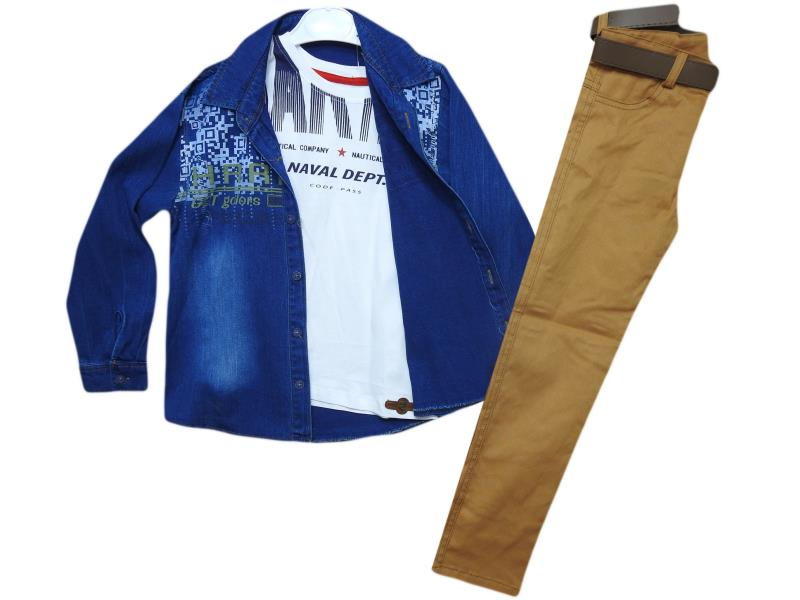 1169 Tripler jeans jacket set for boy children  5-6-7-8 age
