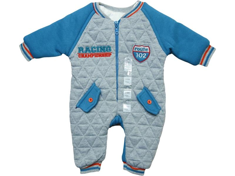 8960 fiber detailed and RACİNG printed overalls for babies  6-9-12 month