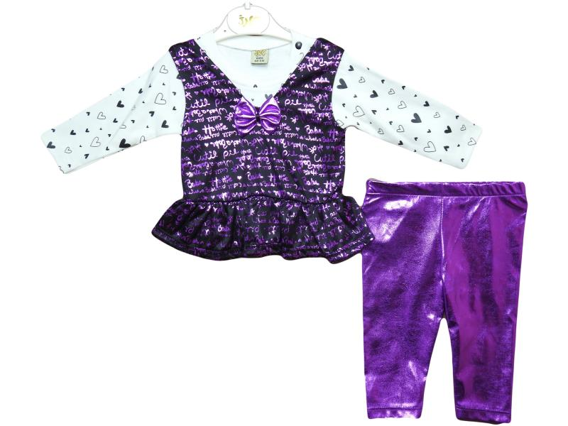 10007 GİRL printed  set for girl babies 6-12-18 month