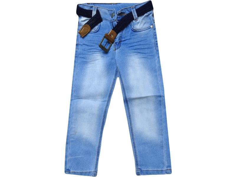 7601 seasonal wholesale boy kid jeans with belt 9-10-11-12 age