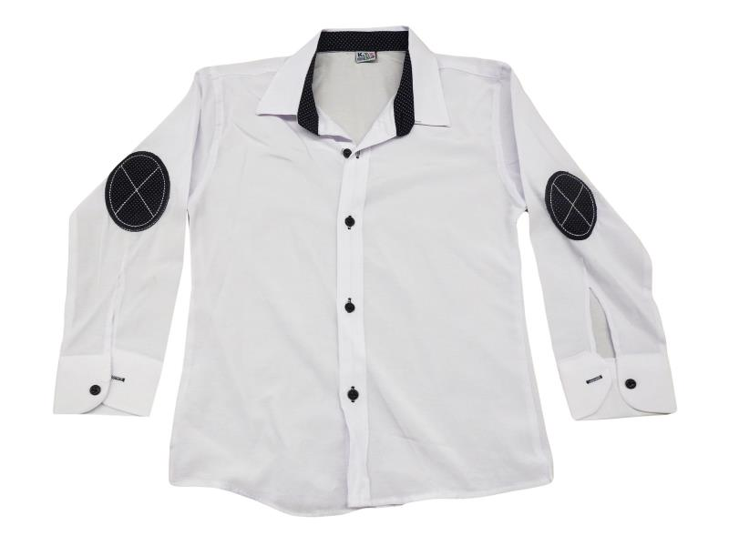 arm patched shirt detailed for boy children 5-6-7-8 age