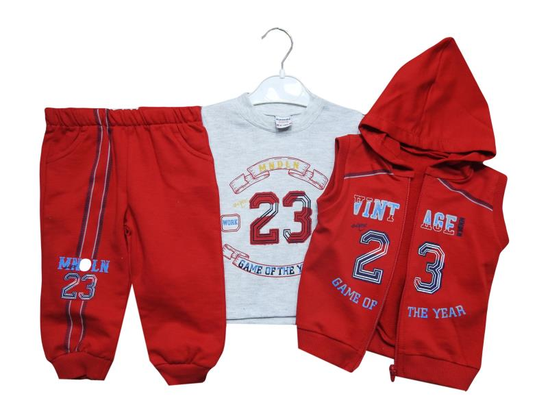 298 Triple 23 printed  set for babies 12-18-24 month