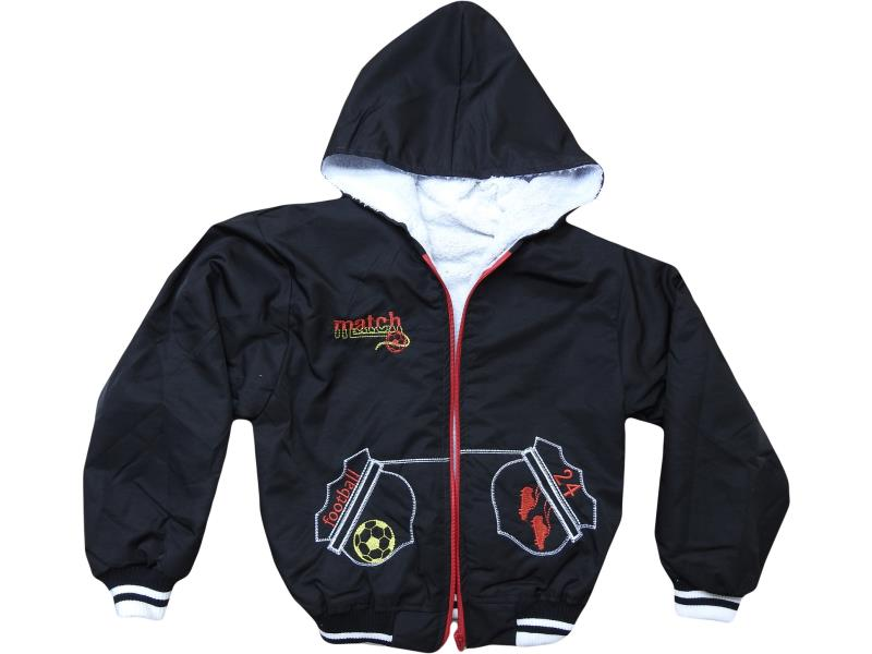 wholesale children's jacket with a hood, the warmed lining, for boys for 6-7-8 years