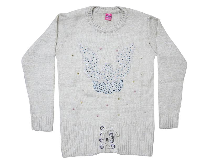 Angel detalied sweater for girl children 10-12-14 age