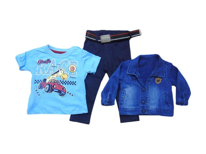 1161 Wholesale quality triple piece set for babies  3-6-9-12 month