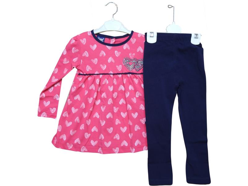 18233 Wholesale children's suit-deuce dress+leggings,girls 9-12-18-24 months