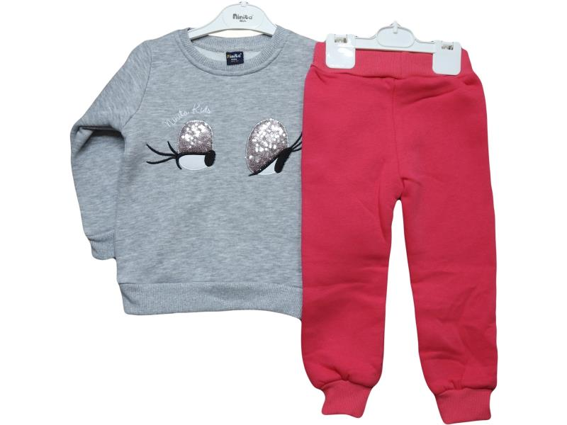 3012 Wholesale children's suit-two, blouse eyes with sequins + pants, for girls 1-2-3-4 years