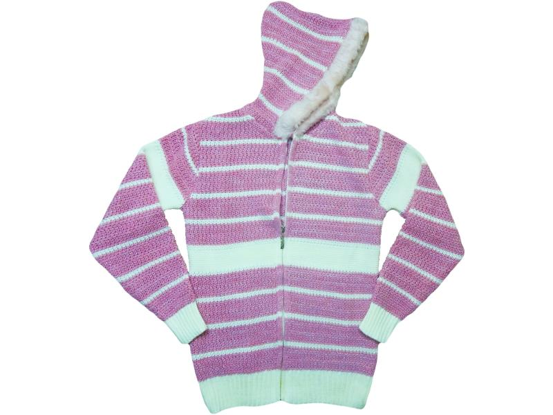 8325 Hooded cardigan for girl children 10-12-14 age