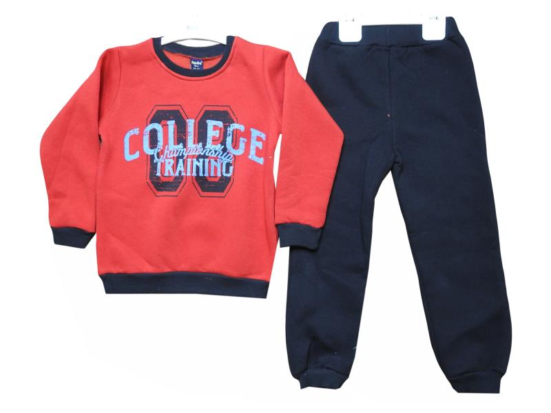 3020 wholesale children's winter suit deuce three-thread fabric, with print college, for boys 5-6-7-8 years