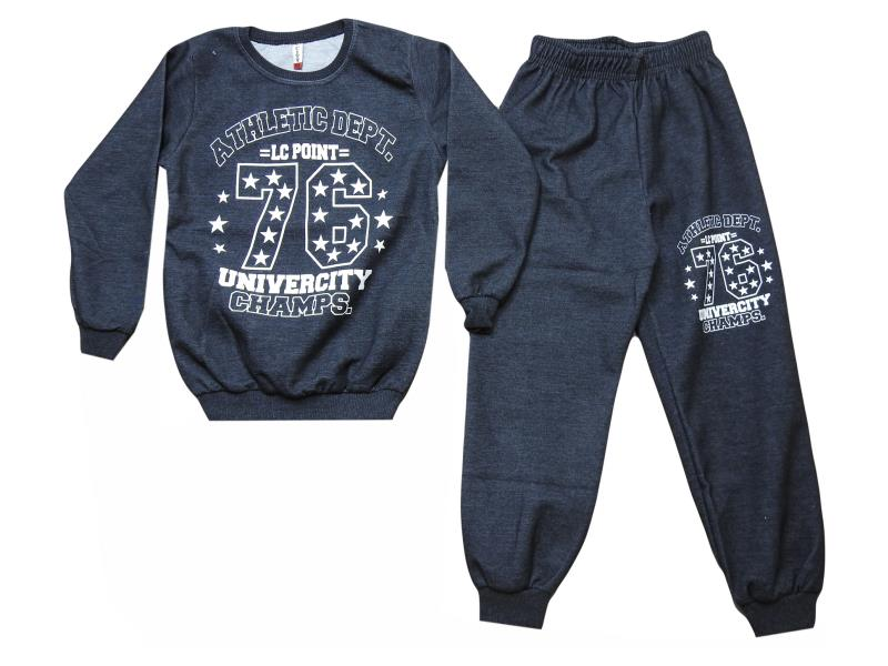 E-213 tracksuit for boys univercity champs print 5-6-7-8-9 age