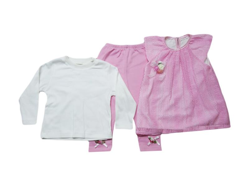 204 Wholesale quality triple piece set for babies 9-12-18-24 month