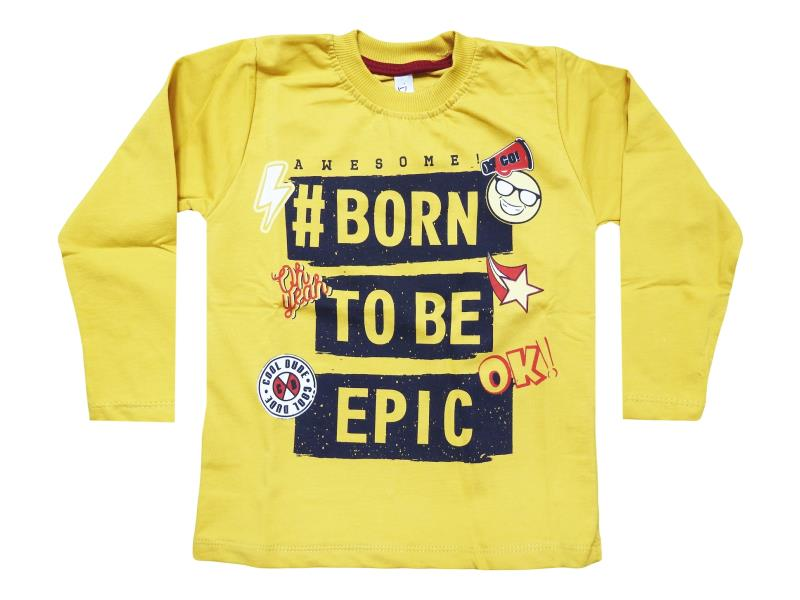 2807 wholesale baby sweaters,sweaters with print born to be epic,long sleeve for girls for 1-2-3-4 years