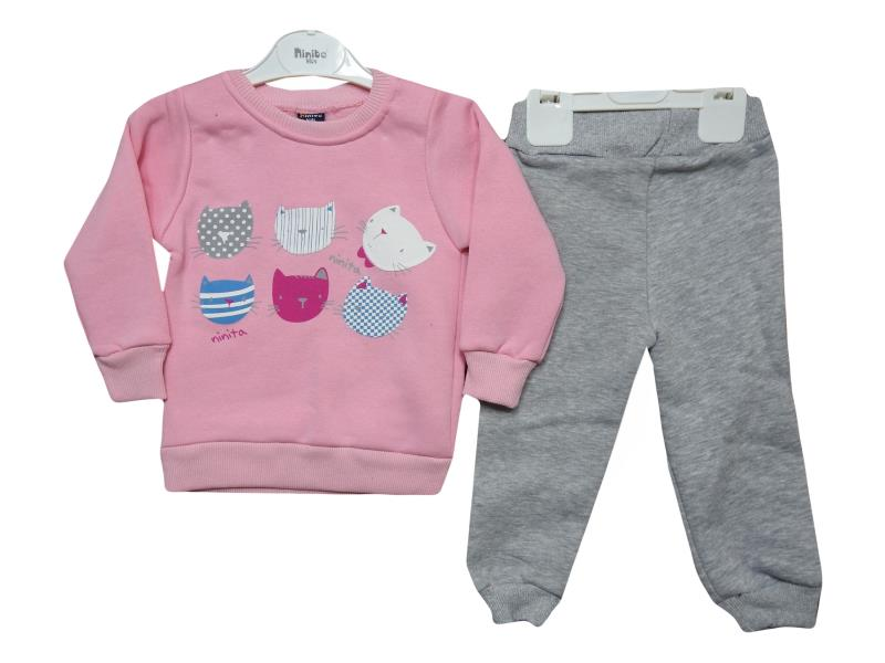 3028 tracksuit for winter season cat head print 1-2-3 age