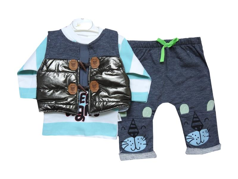 1056 wholesale baby winter three-piece suit for newborn boys for 3-6-9 months