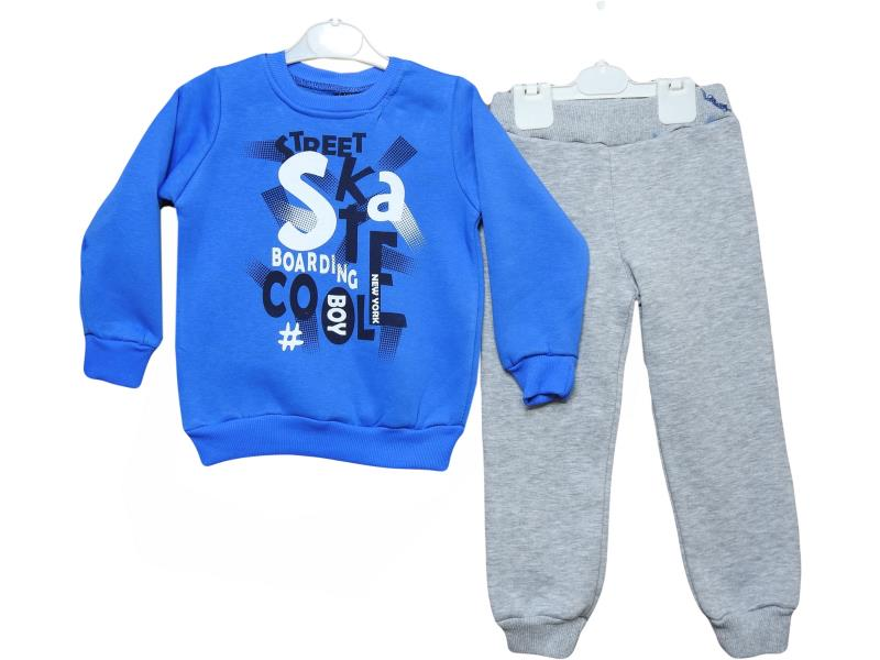 3029 wholesale baby winter suit the two piece my fabric,with print skate street,for boys in 4-5-6 years