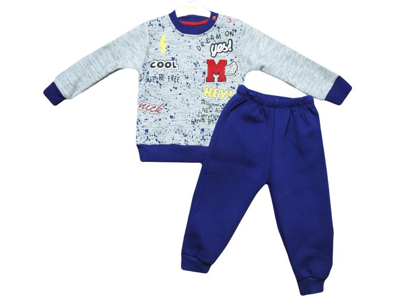 5076 winter season baby boy suit M embroidery 6-12-18-24 month