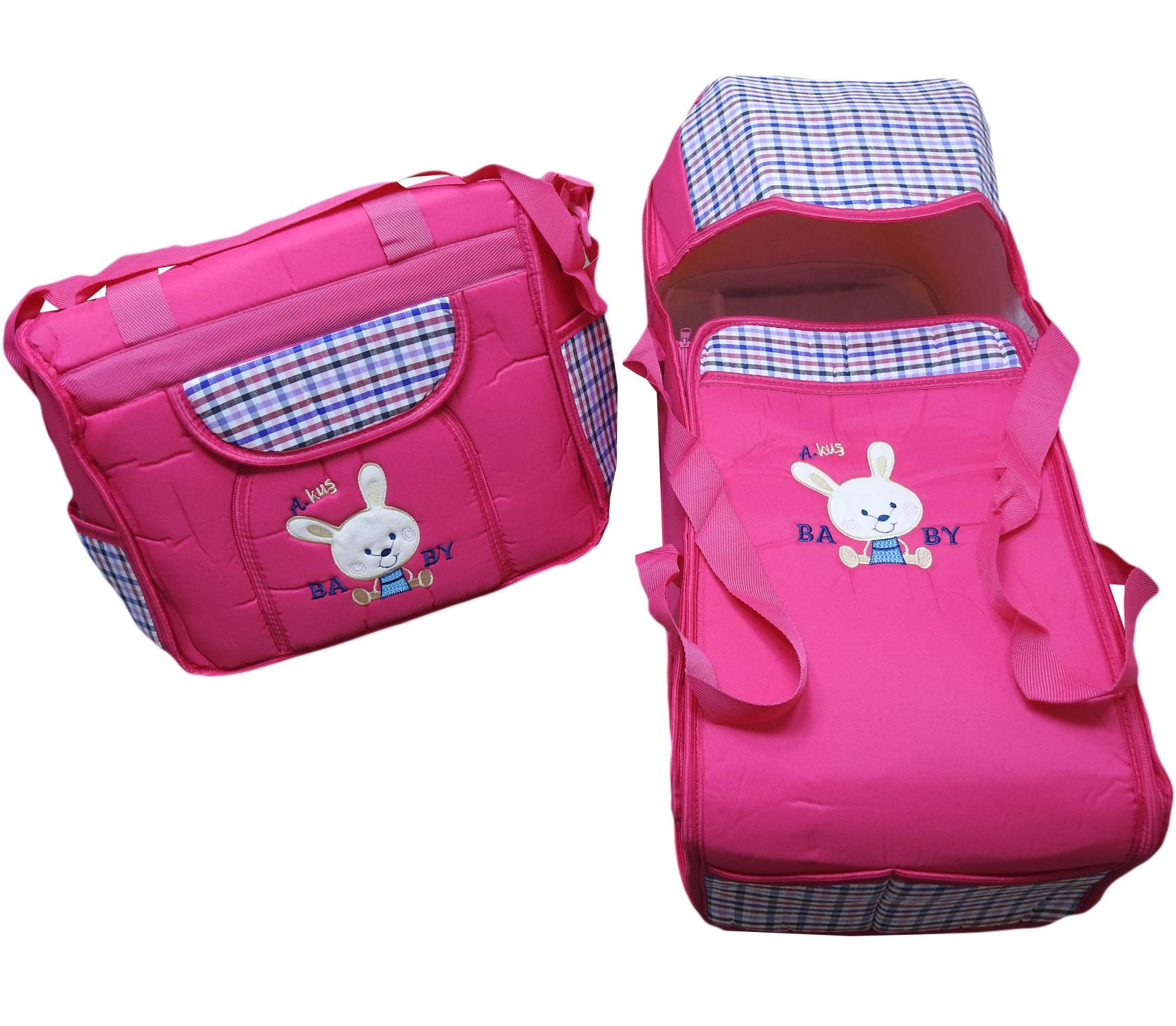 407 baby bag set 2 pcs embroidered