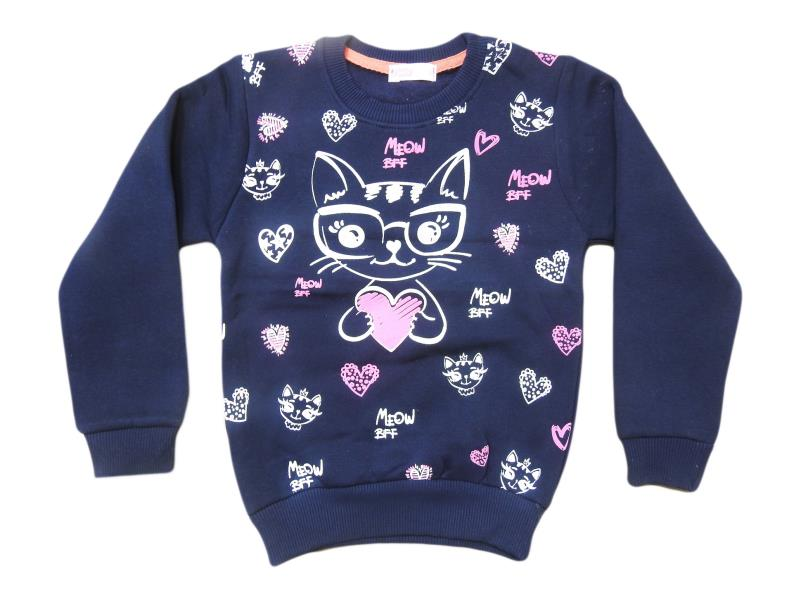 8001 Wholesale quality and cheap cat printed sweat for babies 1-2-3-4-5 age