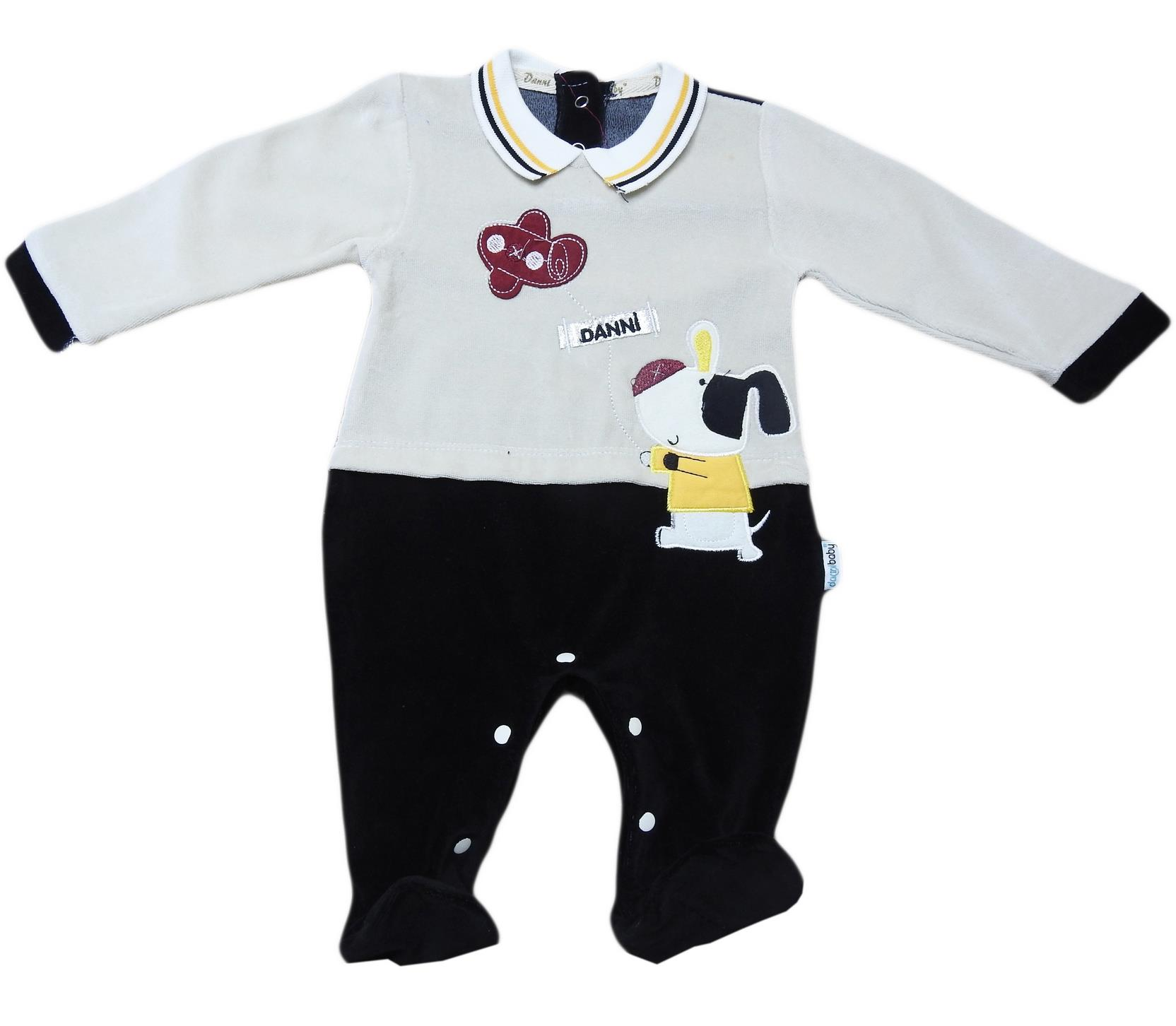 Wholesale velvet detalied quality set for babies  3-6-9 month