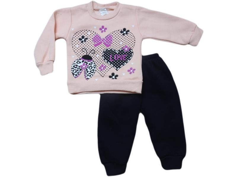 Wholesale cheap and quality two piece winter set for girl babies 1-2-3-4 age