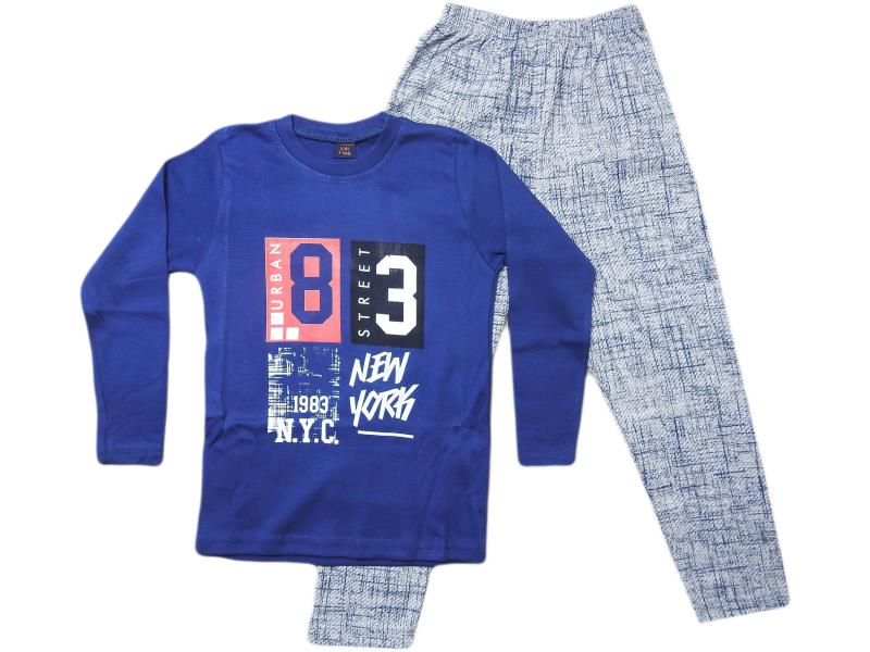 772 Wholesale cheap new york  printed tracksuits for boy children 7-8-9 yaş