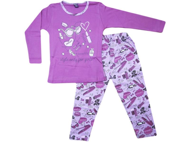 711 Wholesale quality style only printed tracksuits for girl babies  4-5-6 age