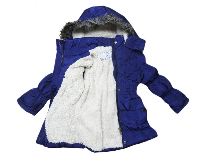 4359 Wholesale quality and cheap wool detailed coat for girl babies 3-4-5-6 age