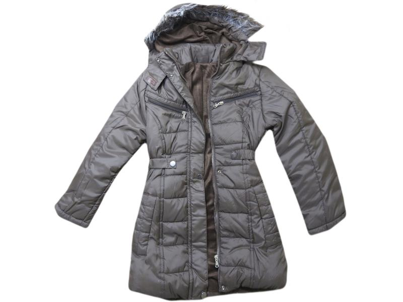 8007 Wholesale quality and cheap wool detailed coat for girl babies 10-11-12-13 age