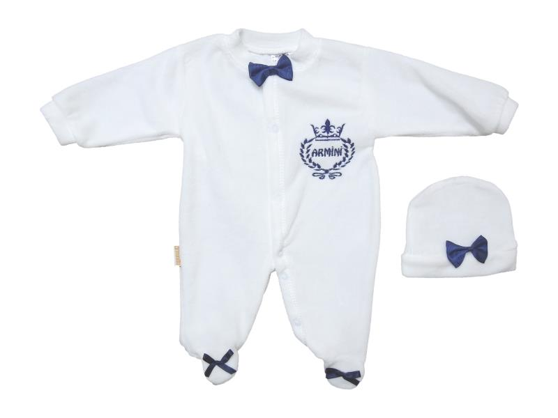 963 Wholesale velvet detailed overalls for babies 0-3-6 month