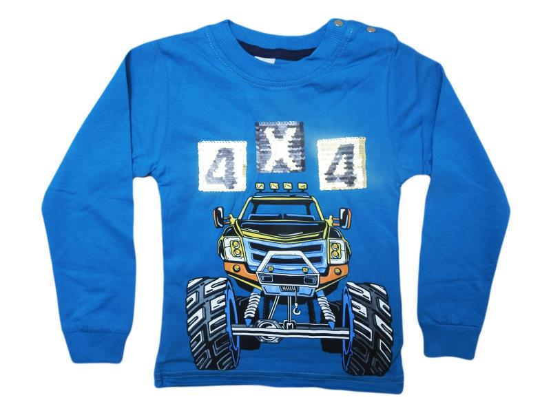 5480.Wholesale cheap and quality seasonal car printed sweatshirt for boy chilren  12-18-24-36 month