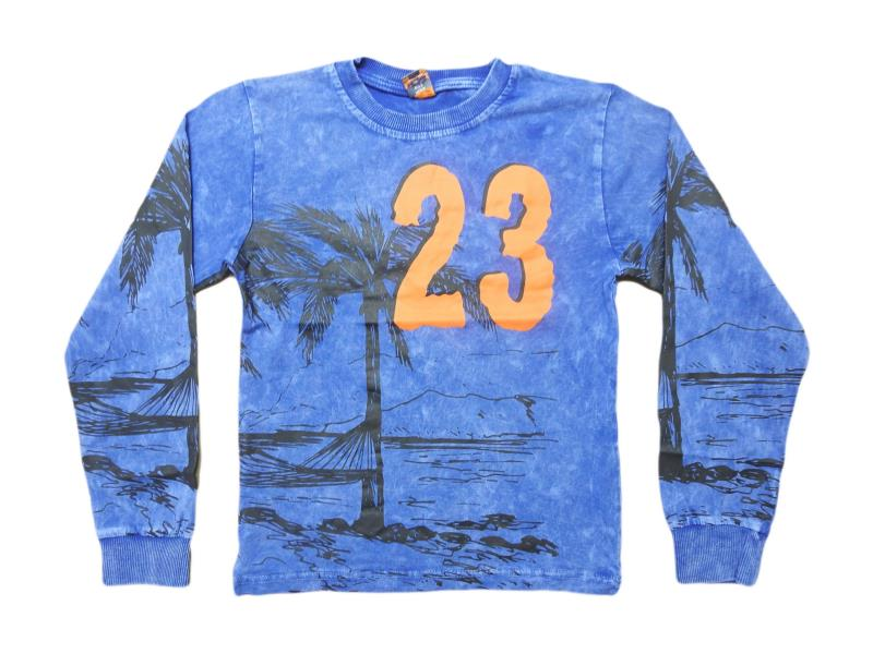 5505.Wholesale cheap and quality seasonal 23 printed sweatshirt for boy chilren  5-6-7-8-9 age