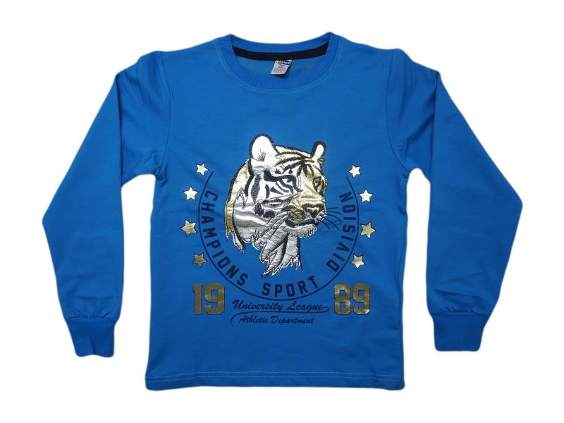 5521.0 Wholesale cheap and quality seasonal Tiger printed sweatshirt for boy chilren  5-6-7-8-9 age