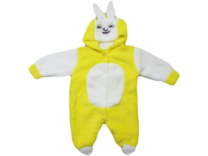 145Wholesale quality and cheap winter detailed rabbit printed overalls for babies 6-9 month