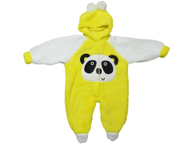 234 Wholesale quality and cheap winter detailed panda printed overalls for babies  6-9 month