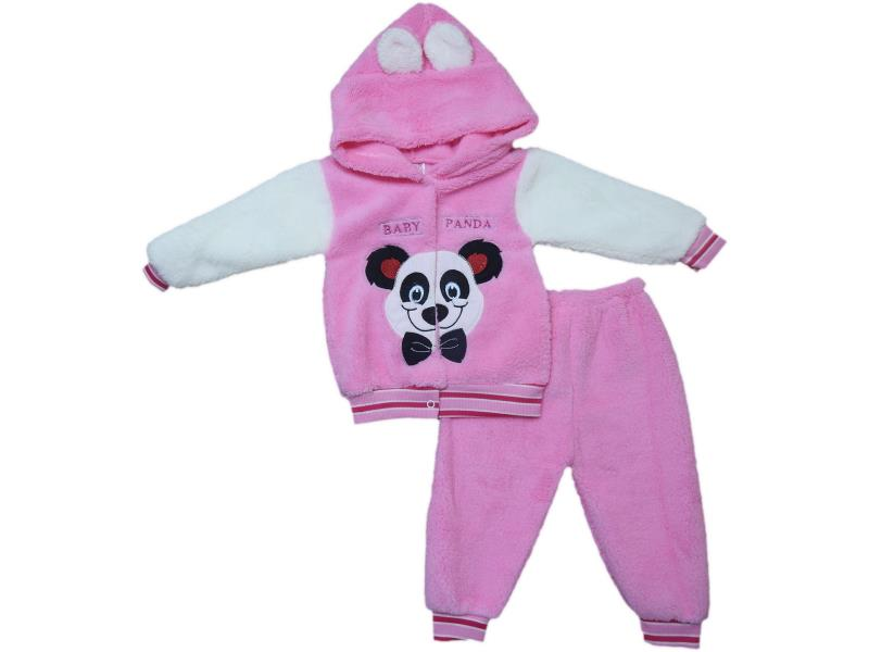 240 Wholesale quality and cheap winter detailed panda printed overalls for babies 6-9 month
