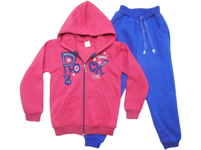 1282  Two piece 'rock' printed tracksuits for children  5-6-7-8 age