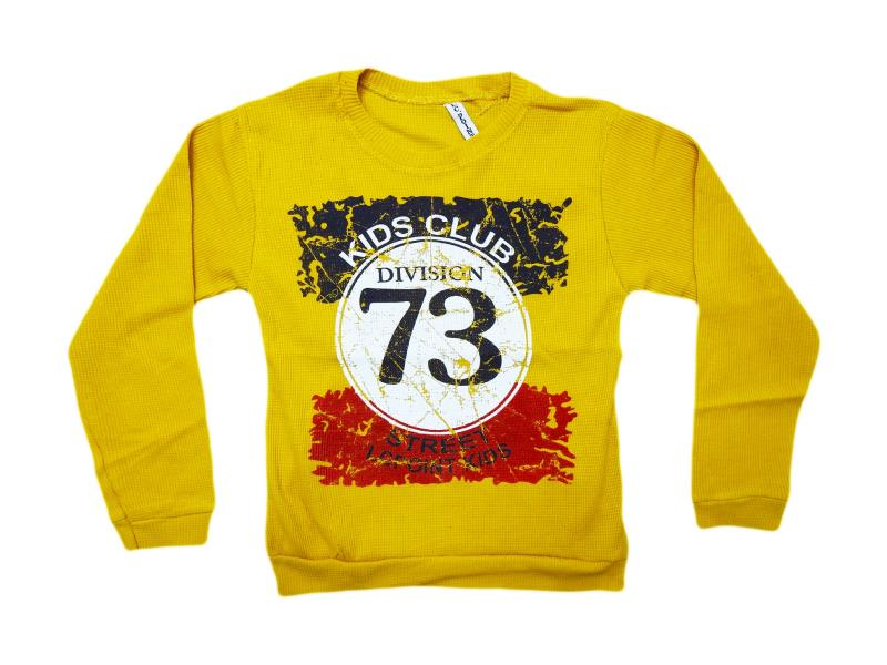E-167 'Kinds club 73 printed' sweat for boy children 5-6-7-8-9 age