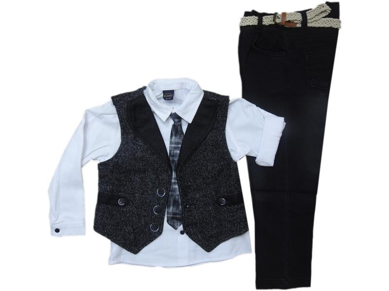 841 Triple piece vest detailed suits set for boy babies 2-3-4-5 age