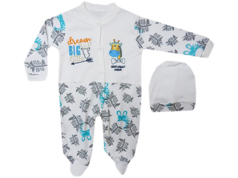 1247 Wholesale quality and cheap 'dream big little' printed overalls for girl babies 3-6-9 month