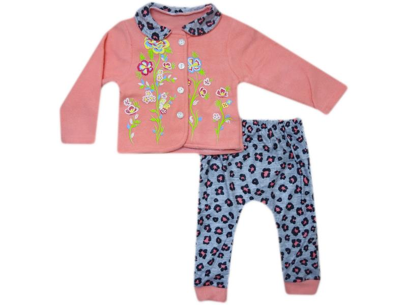 285 Wholesale quality and cheap two piece set for girl babies  2-3-4 age