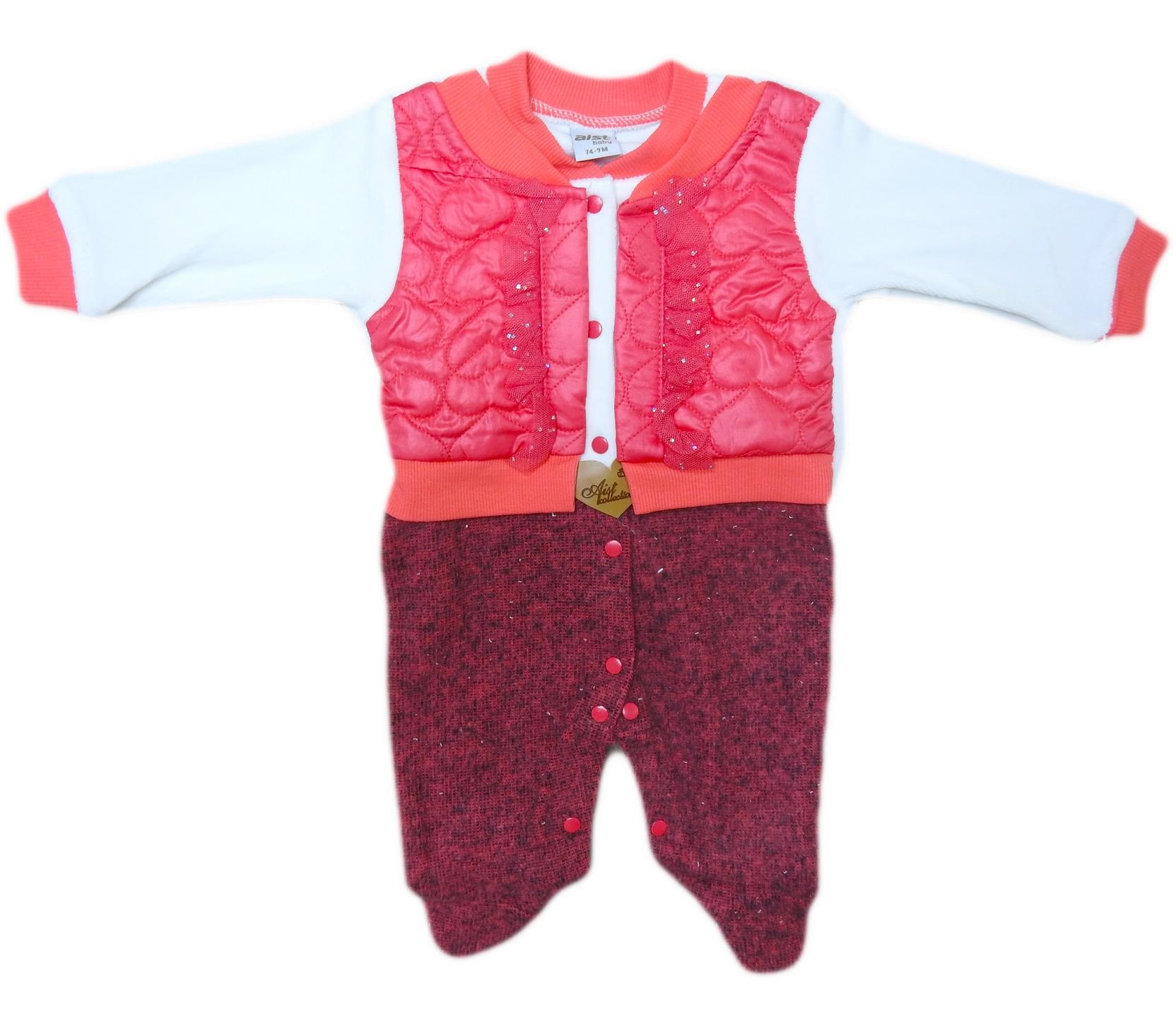 3602 Wholesale quality and cheap vest for girl babies 3-6-9 month