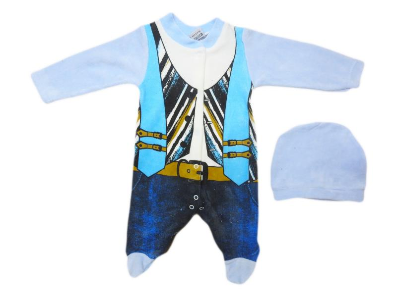 3504 Wholesale quality and cheap arched printed overalls for girl babies 3-6-9 month