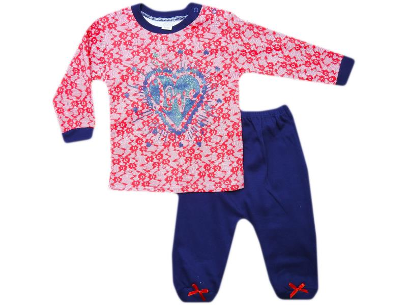 626 Wholesale quality and cheap two piece 'love' printed for girl babies  6-12-18 month