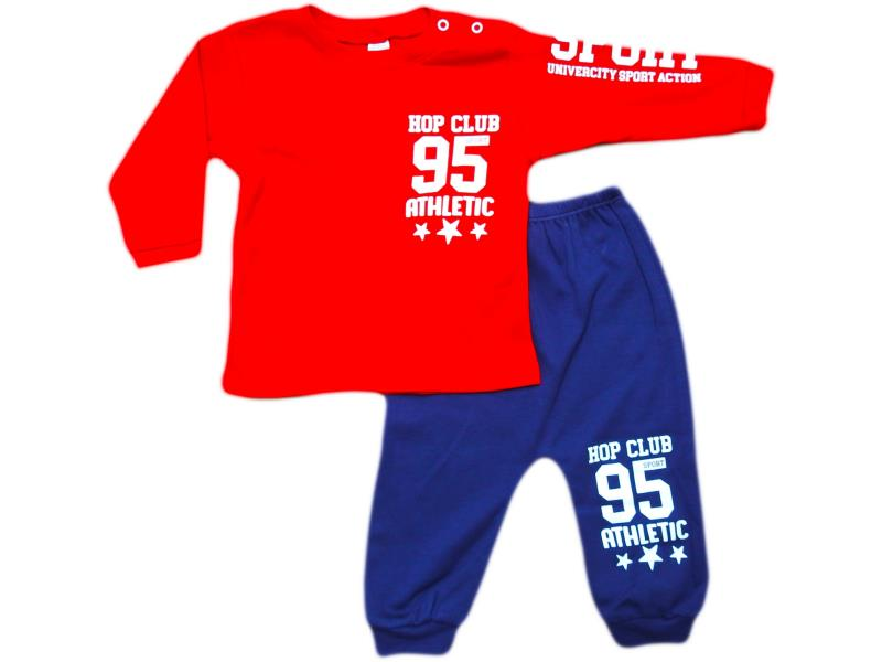 638Two piece '95 athletic'printed set for babies 6-12-18 month
