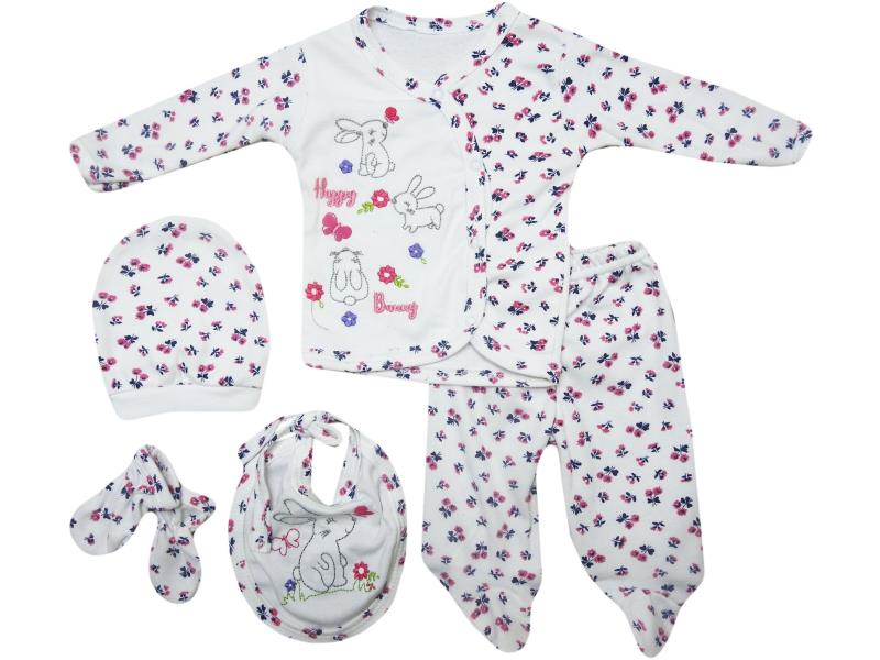 Five piece snapsuit for babies