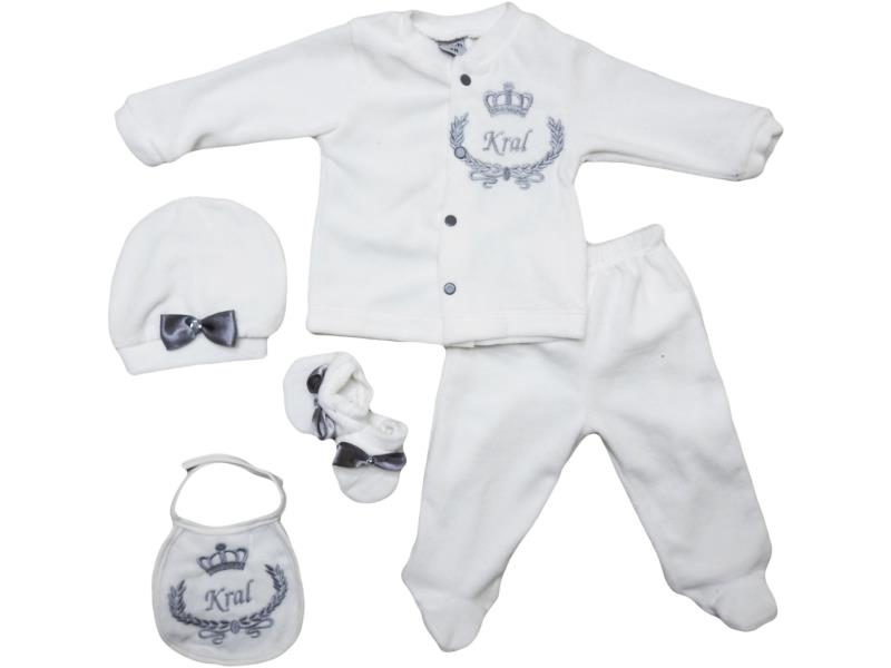 308 Wholesale quality and cheap velvet detalied snapsuit for babies
