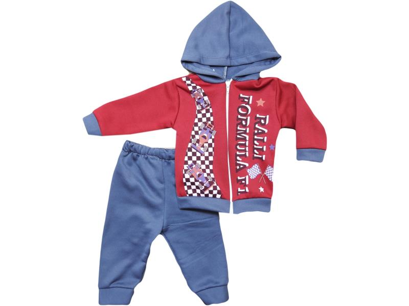 304 Wholesale quality and cheap wintery hooded detalied two piece set for babies  2-4 age